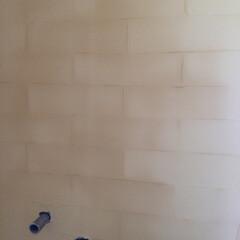 ナチュラル 塗り壁でタイル調を作りました。