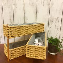 小物収納/キッチン雑貨/収納/雑貨/DIY/100均/... 小物収納作ってみたけど、この作り方を応用…