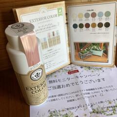 エクステリアカラー オールドピンク  水性着色剤 ウッドアトリエ | 和信ペイント(Washi Paint)(ニス、ステイン)を使ったクチコミ「無料モニターキャンペーンに当選🎉  さっ…」