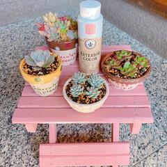 エクステリアカラー オールドピンク  水性着色剤 ウッドアトリエ | 和信ペイント(Washi Paint)(ニス、ステイン)を使ったクチコミ「無料モニターキャンペーンに当選🎉  さっ…」(4枚目)