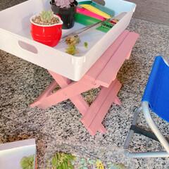エクステリアカラー オールドピンク  水性着色剤 ウッドアトリエ | 和信ペイント(Washi Paint)(ニス、ステイン)を使ったクチコミ「無料モニターキャンペーンに当選🎉  さっ…」(5枚目)