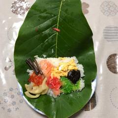 朴葉寿司/鮎/フォロー大歓迎 郷土料理の朴葉寿司! この歳になってもま…