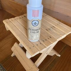 エクステリアカラー オールドピンク  水性着色剤 ウッドアトリエ | 和信ペイント(Washi Paint)(ニス、ステイン)を使ったクチコミ「無料モニターキャンペーンに当選🎉  さっ…」(2枚目)