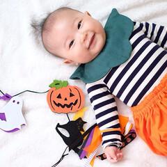 スタイ/かぼちゃパンツ/かぼちゃ/手芸/ハロウィン/無印良品/... かぼちゃなりきりファッション🎃Handm…