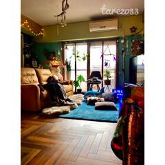 イームズチェア/ムートン/イルミネーションライト/スノーマン/クリスマス/間接照明/... 一枚まえの写真で ちょこっと写ってた ダ…