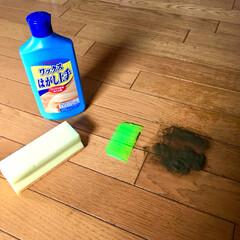 暑い/真夏/スクレーパー/リンレイ/ワックスはがし上手/剥離中/... 我が家の大掃除は夏です! 油は緩んでるし…