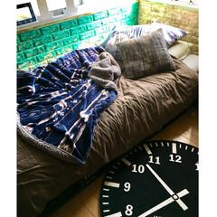 ベッドカバー/無印良品/塗装/ペイントレンガ/クッションレンガシート/山善/... ニトリ2018秋冬コーディネートでモニタ…