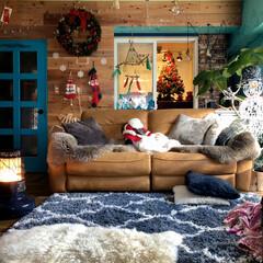 インテリア/リビング/DIY/セルフリフォーム/セルフリノベーション/クリスマス/... 2019年クリスマス リビングの記録