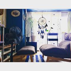 黒い扇風機/息子の部屋/マンションインテリア/リクライニングソファ/無印良品/バスケットトローリー/... ほぼ変化のない息子の部屋  2年前に買っ…