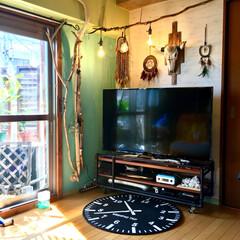 マンション/セルフリノベーション/ネイティブ/間接照明/流木/蹄鉄リメイク/... 息子の部屋用に買った ニトリの小っちゃい…
