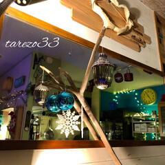 オニキスミラー/冷蔵庫/Panasonic/キッチンすっきりラック/山善/ダイニングキッチン/... サメくんのエリアも少しだけ クリスマス仕…