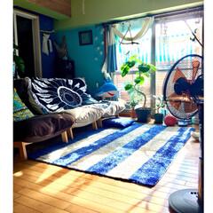 YAMAZEN扇風機/山善/ラウンドビーチタオル/ハイバックリクライニングソファー/無印良品/西海岸風インテリア/... 我が家の扇風機 YAMAZENのモニター…