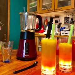 光るコースター/お家カフェ/ミキサー/レモンティー/リプトン/パイナップル/... 暑いですねー また酷暑がやってきた💦  …