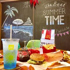 カフェ風インテリア/ブルーハワイ/ロコモコバーガー/お昼ご飯/マクドナルド/黒板アート/... 子供が大きくなって めっきり食べなくなっ…