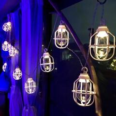ドウシシャ ガーデンライト 屋外 LED電池式ライト 10球 クラシックランプ ホワイト LPB-CR10W | ドウシシャ(その他キッチン、日用品、文具)を使ったクチコミ「ドウシシャ  アウトドアリビングアイテム…」