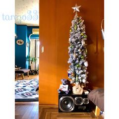 スノータイプ/ニトリ/クリスマスツリー/DIY/スリムツリー/キリム柄/... 2つ目のクリスマスツリー  ニトリで買っ…