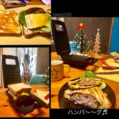 がっつり系/カフェ風/ブランチ/休日の朝ご飯/黒板/6枚切り/... 山善 具がたくさんはさめる ホットサンド…(2枚目)