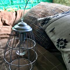 ベッド/倉庫風/ペイント/クッションレンガシート/山善/シルエット/... ドウシシャ ガーデンライトモニター  ど…