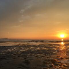 おでかけワンショット とっても綺麗な夕日 思わず立ち寄って撮影…(1枚目)
