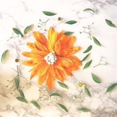 花びら/フォロー大歓迎/ハンドメイド/風景/暮らし/住まい/... 飾ってた花の花びらが落ちてきたので ひま…