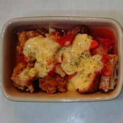 チーズ大好き/キャンプ飯/タッカルビ/おうちごはん 手軽に作ってみました😋  🥖パネチキン⁉…