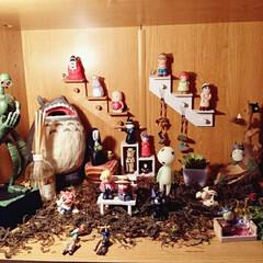 ジブリ/ジブリ感/ジブリ風/DIY/雑貨/100均/... 本棚で作ったジブリ部屋です!! ジブリ好…