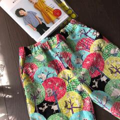 男児/ハーフパンツ/子ども服/140cm/ハンドメイド 小5になった息子の選んだ布で、ハーフパン…