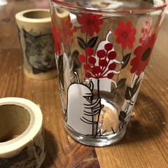 ひとつめちゃん/ヒグチユウコ展 ひとつめちゃんグラス、可愛くて毎日眺めて…