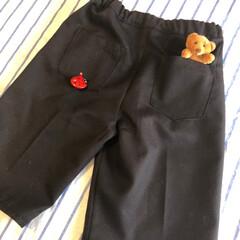 ヴァイオリン発表会/amedamatoys/男子服/140cm/子ども服/ハンドメイド 息子の発表会用のハーフパンツを縫いました…(3枚目)