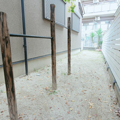 DIY男子/エクステリア/ガーデニング/鉄棒DIY/鉄棒/DIY/... わたしの手作り🔧  お庭の隅っこのスペー…(1枚目)