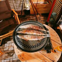 秋の味覚/ベランピング/秋刀魚/おうちごはん/イケア/キッチン/... おうちのベランダでおうちごはん  秋の味…