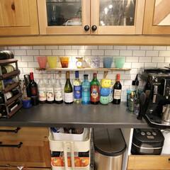 デロンギ/バルミューダ/ワインセラー/グルメ/フード/おうちごはん/... キッチン見せて!  キッチン背面のカウン…