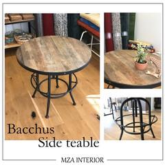 サイドテーブル/関家具/Baccus/ヴィンテージ/エムザ/昇降可能 Bacchus Side teable/…