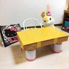 キャンドゥ/ダイソー/セリア/100均/DIY/ハンドメイド/... 1歳なりたて用のテーブルは 材料次第で処…
