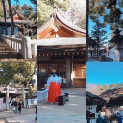 神社/あけおめ/冬/おでかけ/風景 三賀日は過ぎましたが、何時ものパターンで…