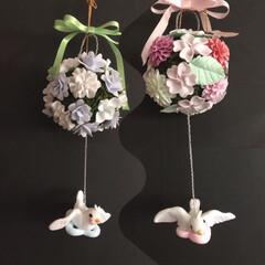 お花パーツ/ハンドメイド/雑貨/ダイソー/わたしの手作り この前から、悩んでいた大きめお花のパーツ…