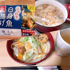かつおだしの素 10g×50包 マルシマ(だし、ブイヨン、がらスープ)を使ったクチコミ「次男くんが、うどん食べたいとリクエストな…」