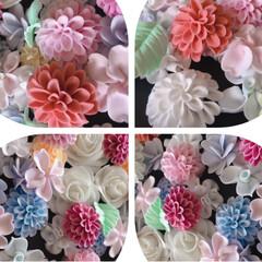 お花大きめ/樹脂粘土/お花パーツ/ハンドメイド/ダイソー/わたしの手作り お花いっぱ~い🌸🌼🌺😊💕  大きめパーツ…(3枚目)