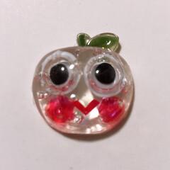 りんごちゃん/レジン/失敗/ハンドメイド レジンの影響を受けて、初めてやってみたけ…