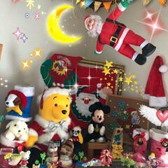 お家クリスマス/クリスマス クリスマスの夜、サンタさんが空を飛んでい…