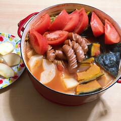 DANSK/赤いお鍋/当選/おめでとう/ありがとう/MILIAさんlove/... 毎日、煮込んでばかりの料理だけど、最高の…