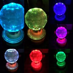 万華鏡/フォト遊び/雑貨/セリア/雑貨だいすき 数ヶ月前に、セリアで購入の7色ライトが綺…(9枚目)