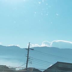 空/実家/ドライブ/冬/風景 ( 'ω'o[Now]oパパ運転の車で、…