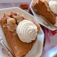 娘と食べた/3時のおやつ 失敗ケーキなのに、美味しく出来ました❣️…
