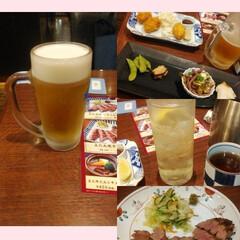 生ビール/タン/カキフライ/おでかけ 生ビールに、ハイボールに上タン焼きにカキ…