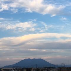 ブルー 空の青と桜島の青