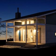 住まい/一戸建て/木造建築/木造/木の家/暖炉/... (1枚目)