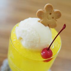 バニラアイス/レモンソーダ/さくらんぼ/クッキー/夏はコレ/ハンドメイド/... 今日は暑すぎた~☀ 今年初クリームソーダ…(1枚目)
