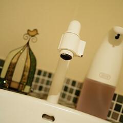 ホワイトが好き/プラスマイナスゼロ/トフィー/液体バージョン/泡バージョン/ディスペンサー/... キッチン𓎸 𓐐𓌈と… トイレ🚻…の。 洗…(1枚目)