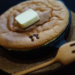 バターが好き/おやつの時間/カステラ/スキレット/暮らし 至福の時間♡(2枚目)